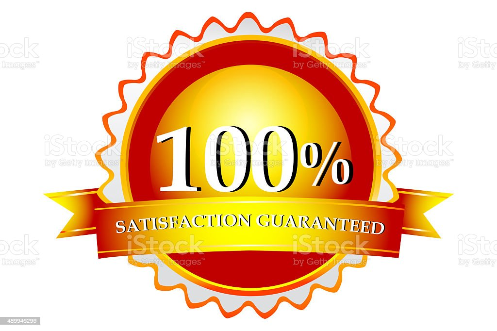 100 satisfaction guaranteed logo stock vector art 489946296 istock rh istockphoto com 100 satisfaction guaranteed logo vector satisfaction guaranteed logo vector