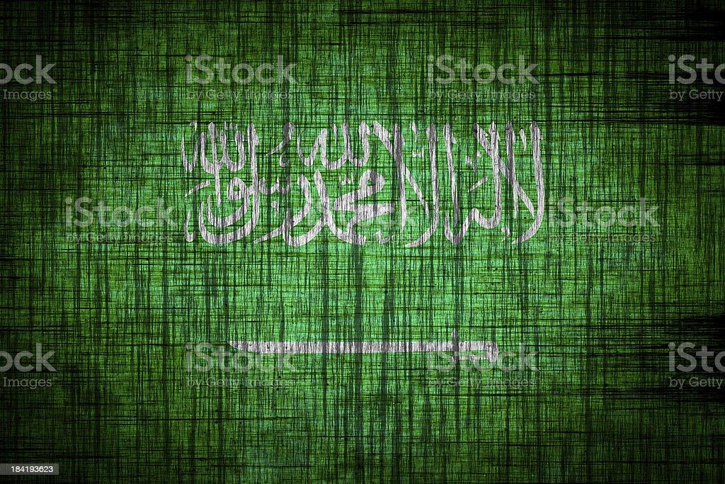 saudi arabia flag  wood texture royalty-free stock vector art