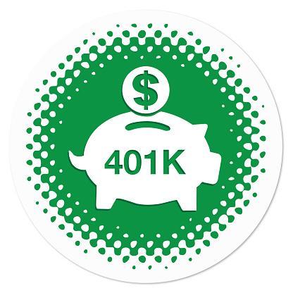 401K savings badge in green