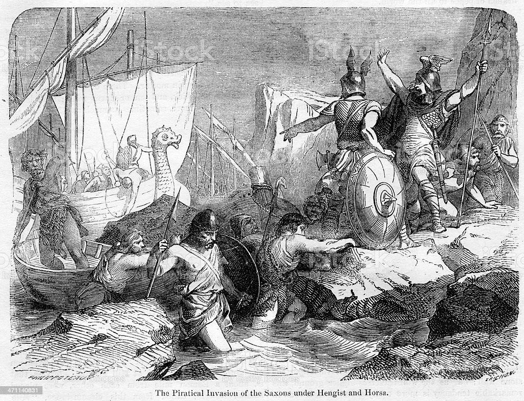 Saxon Invasion vector art illustration
