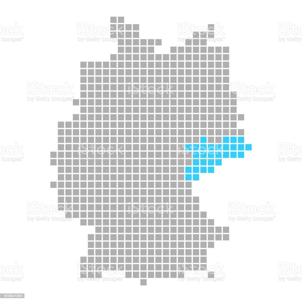 Simple Map Of Germany.Saxony On Simple Map Of Germany Stock Illustration Download Image
