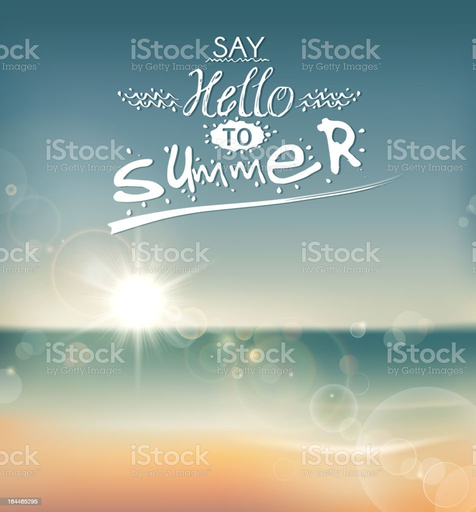 Say Hello to Summer royalty-free say hello to summer stock vector art & more images of announcement message