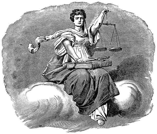 bildbanksillustrationer, clip art samt tecknat material och ikoner med scales of justice - justitia