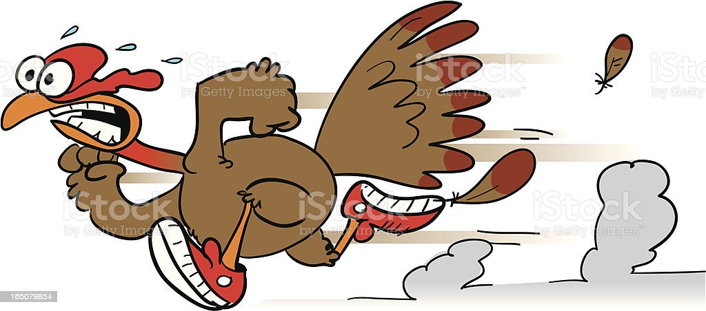 Scared Turkey Clipart - Running Turkey Clipart Black And White ,  Transparent Cartoon - Jing.fm