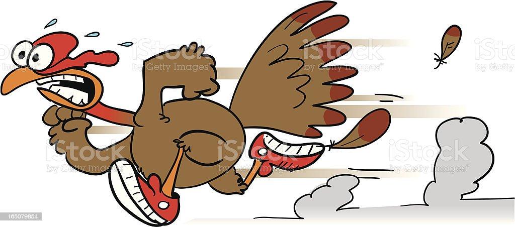 royalty free running scared turkey clip art vector images rh istockphoto com Running Turkey Clip Art Silly Turkey Clip Art