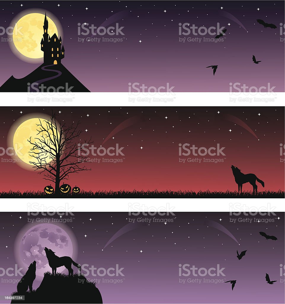 Scary banners. royalty-free stock vector art