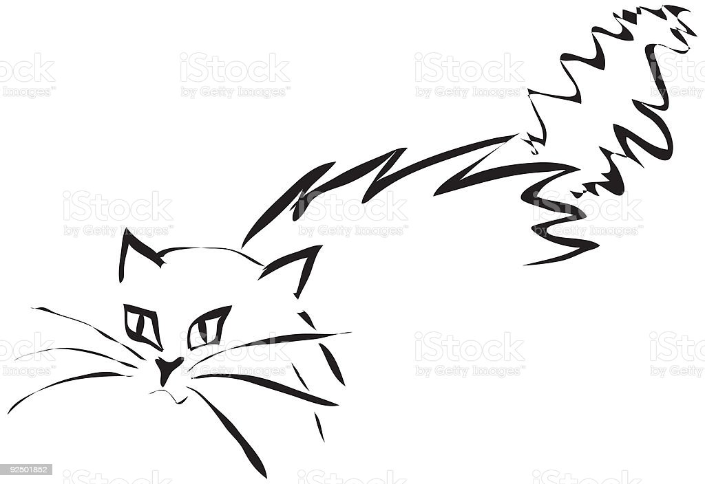 Scary Cat 1 royalty-free scary cat 1 stock vector art & more images of color image