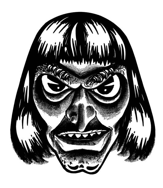 Best Black And White Zombie Face Illustrations, Royalty ...