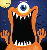 scary monster illustration