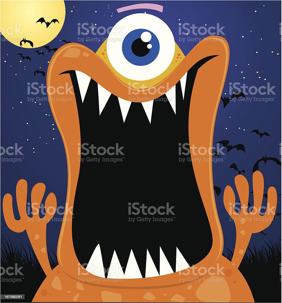 scary monster vector art illustration