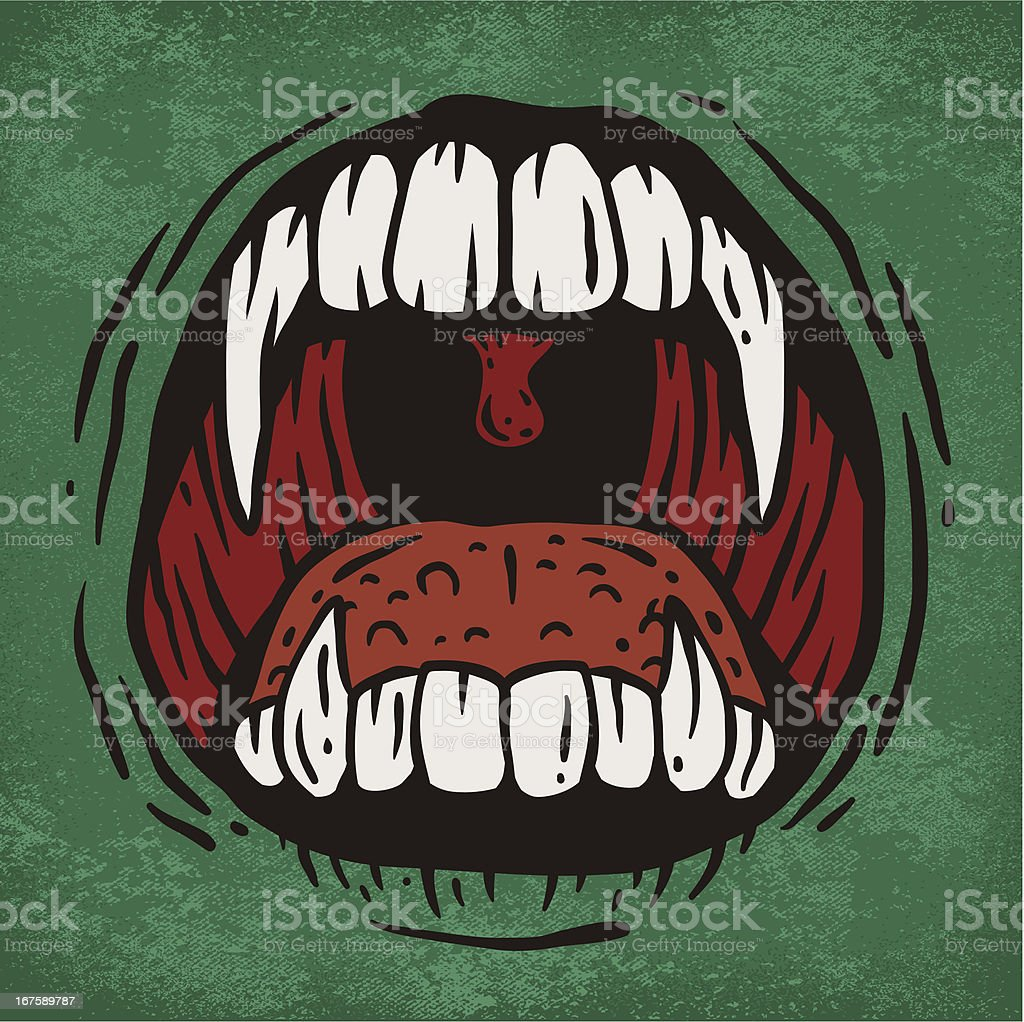 Scary Mouth vector art illustration