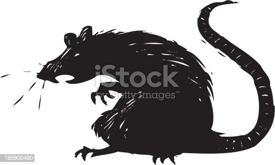 scary illustration of a rat