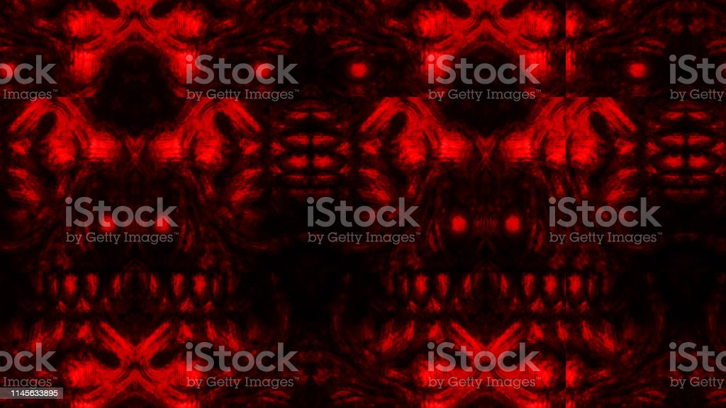scary zombie face pattern on black background illustration id1145633895