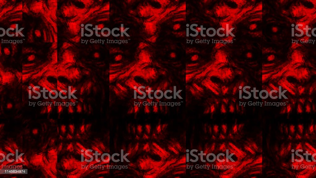 scary zombie face pattern on black background illustration id1145634974