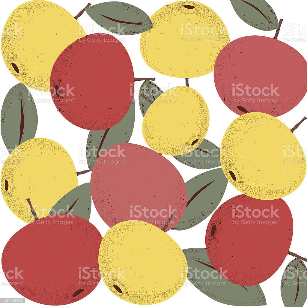Scattered Apples royalty-free scattered apples stock vector art & more images of apple - fruit
