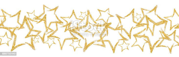 scattered sequins in the shape of a star seamless border