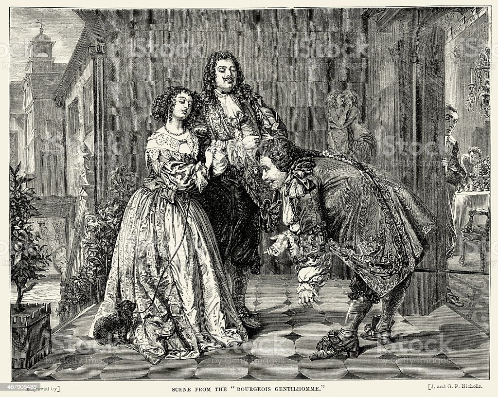 Molière: Scene From Le Bourgeois Gentilhomme By Moliere Stock