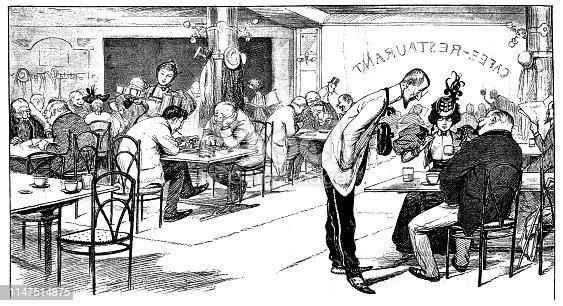 Scene from the restaurant