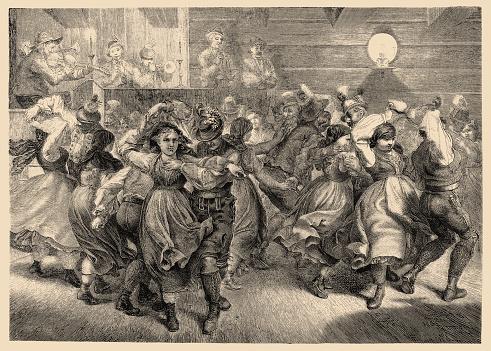 Illustration of a Scene of rural enjoyment