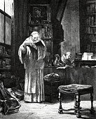 Scholastic Studies: monks reading and writing