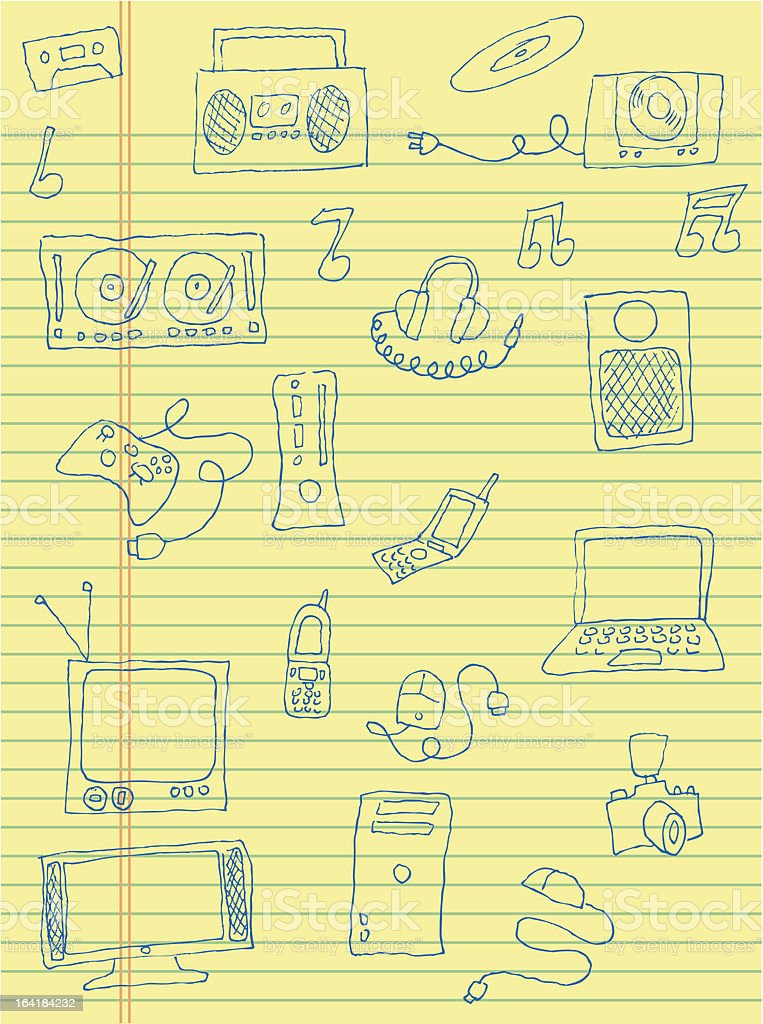School Art Technology royalty-free stock vector art