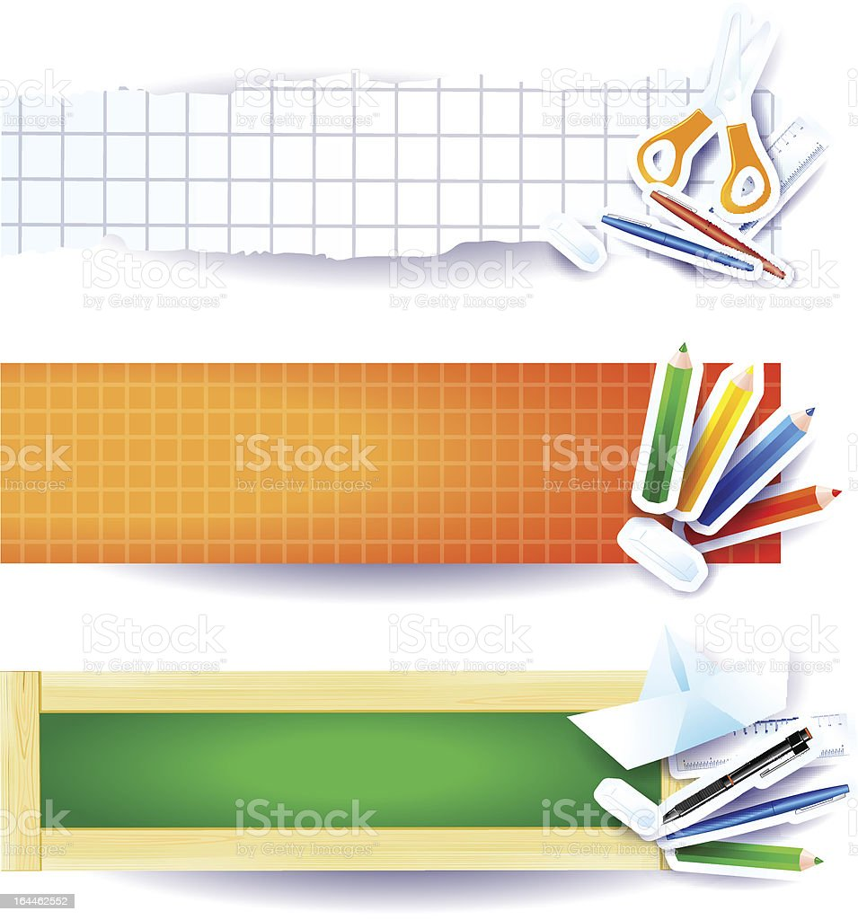 School banners royalty-free stock vector art
