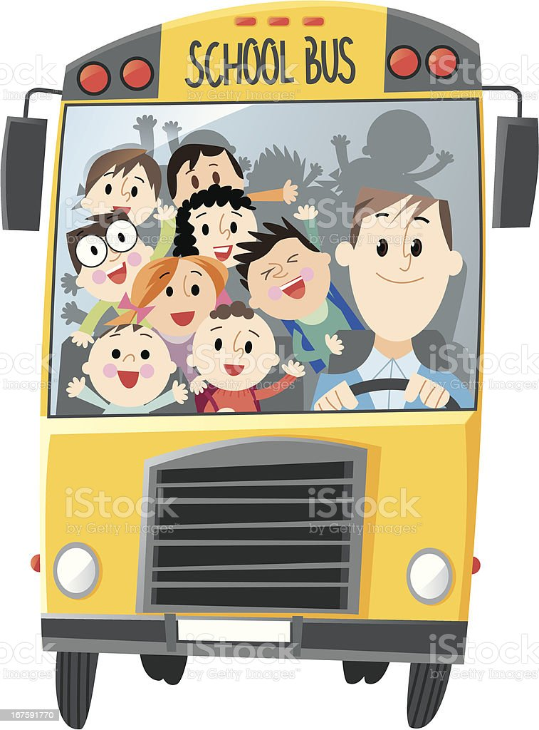 School Bus royalty-free stock vector art