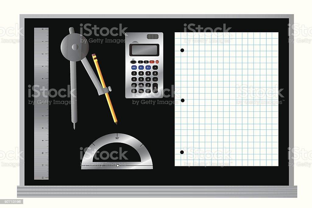 School Daze: Math Supplies royalty-free stock vector art