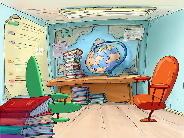 school office. geography cabinet.travel agents. - travel agent stock illustrations, clip art, cartoons, & icons