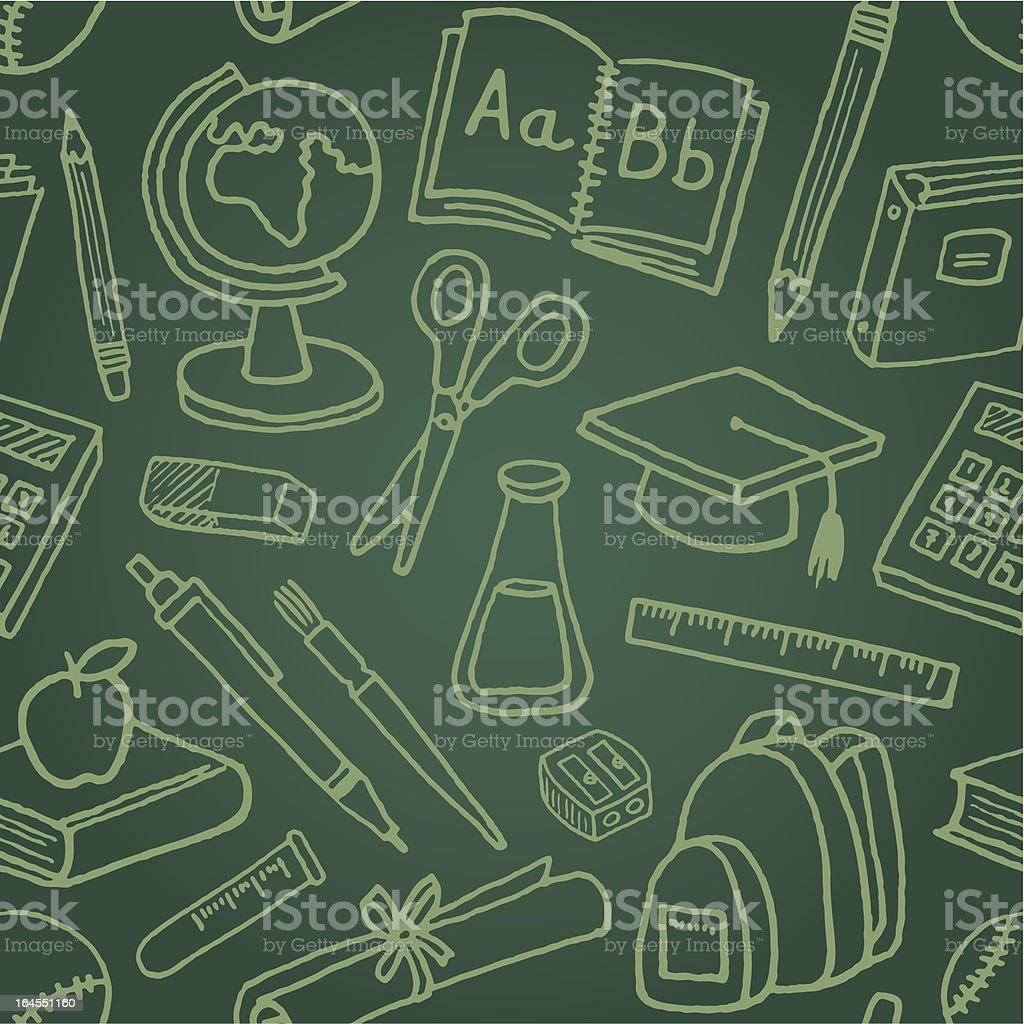 School Symbols Seamless Pattern royalty-free school symbols seamless pattern stock vector art & more images of back to school