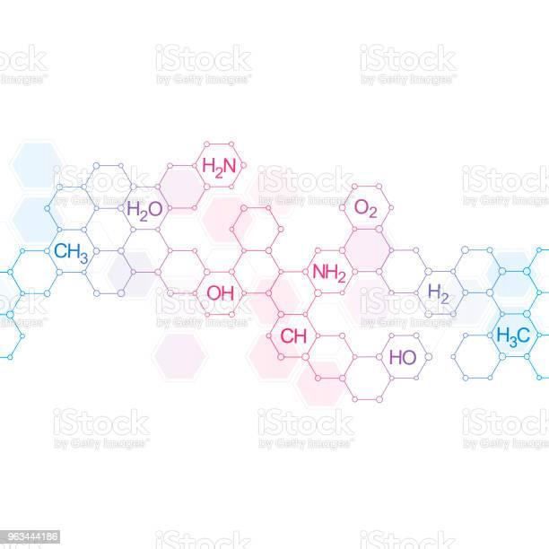 Kimyasal Formüller Ile Bilim Ve Teknoloji Arka Plan Stok Vektör Sanatı & Altıgen'nin Daha Fazla Görseli