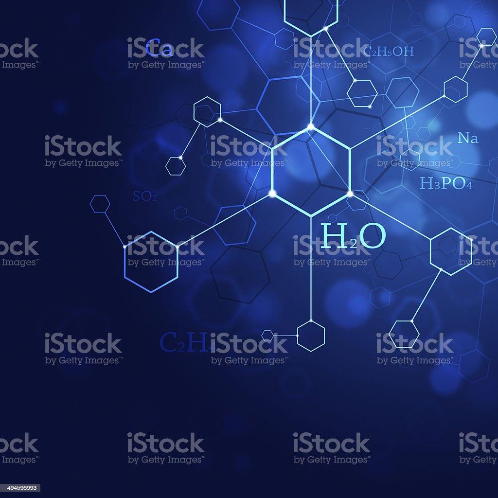 Science Blue Background vector art illustration