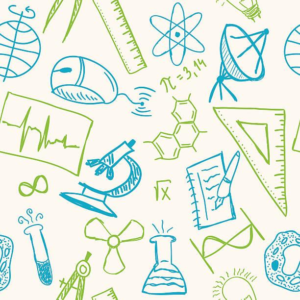 科学図面にシームレスなパターン - 作文の授業点のイラスト素材/クリップアート素材/マンガ素材/アイコン素材