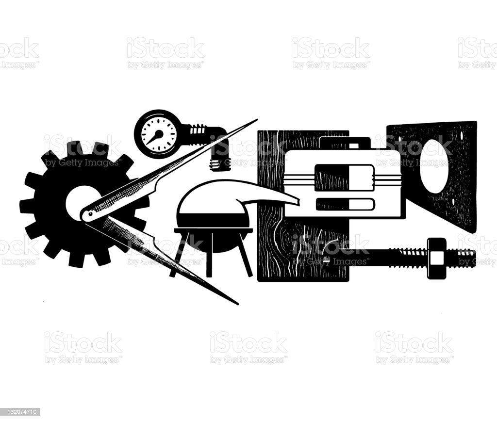 Science Equipment royalty-free science equipment stock vector art & more images of black and white