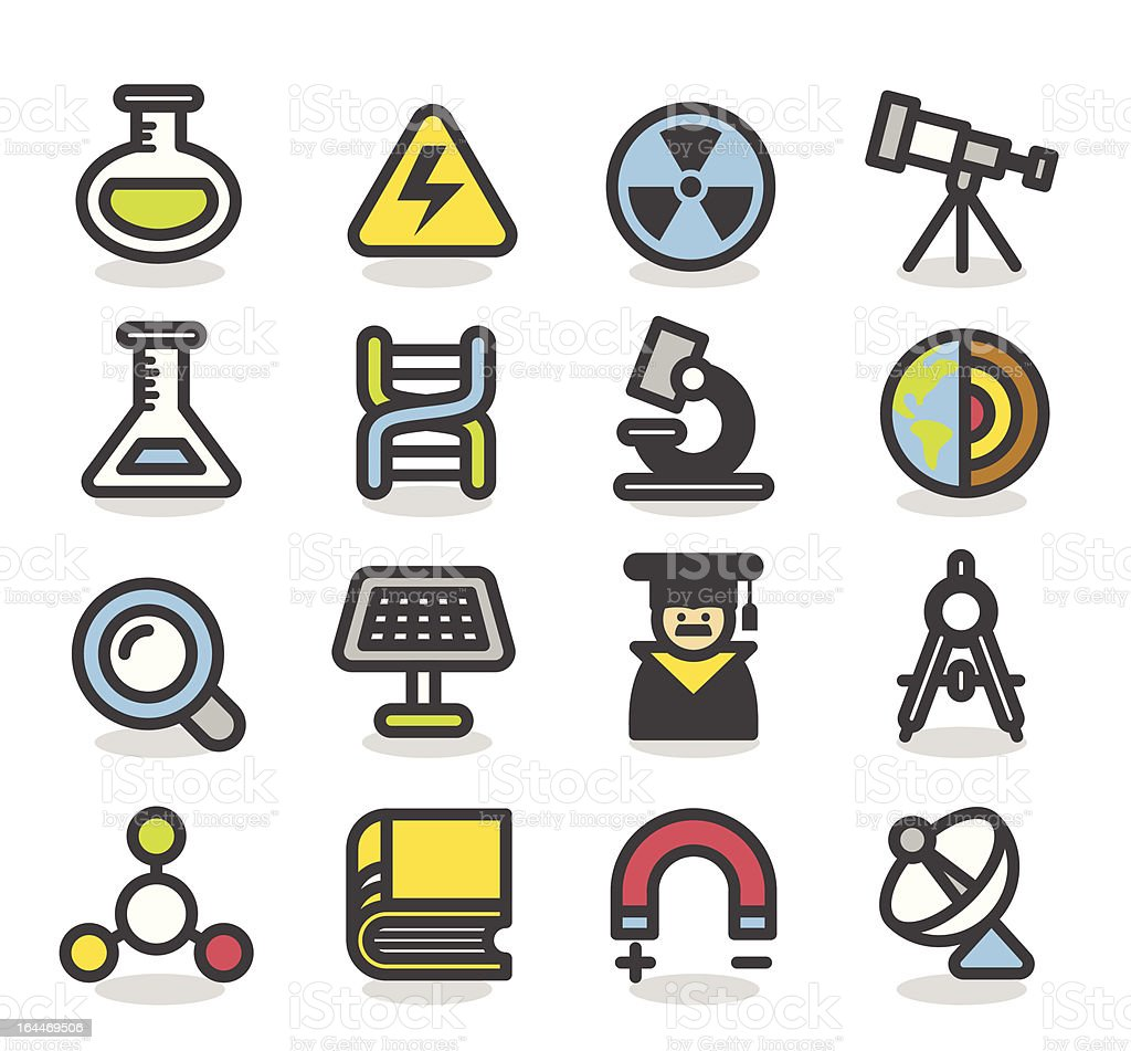 Science icon set | Contour Series royalty-free science icon set contour series stock vector art & more images of adult