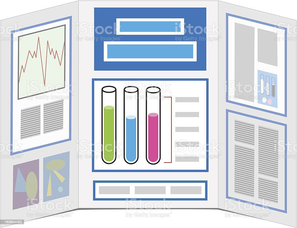 Science Project Display Board vector art illustration