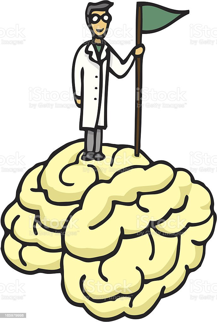 Scientist conquering brain royalty-free scientist conquering brain stock vector art & more images of achievement