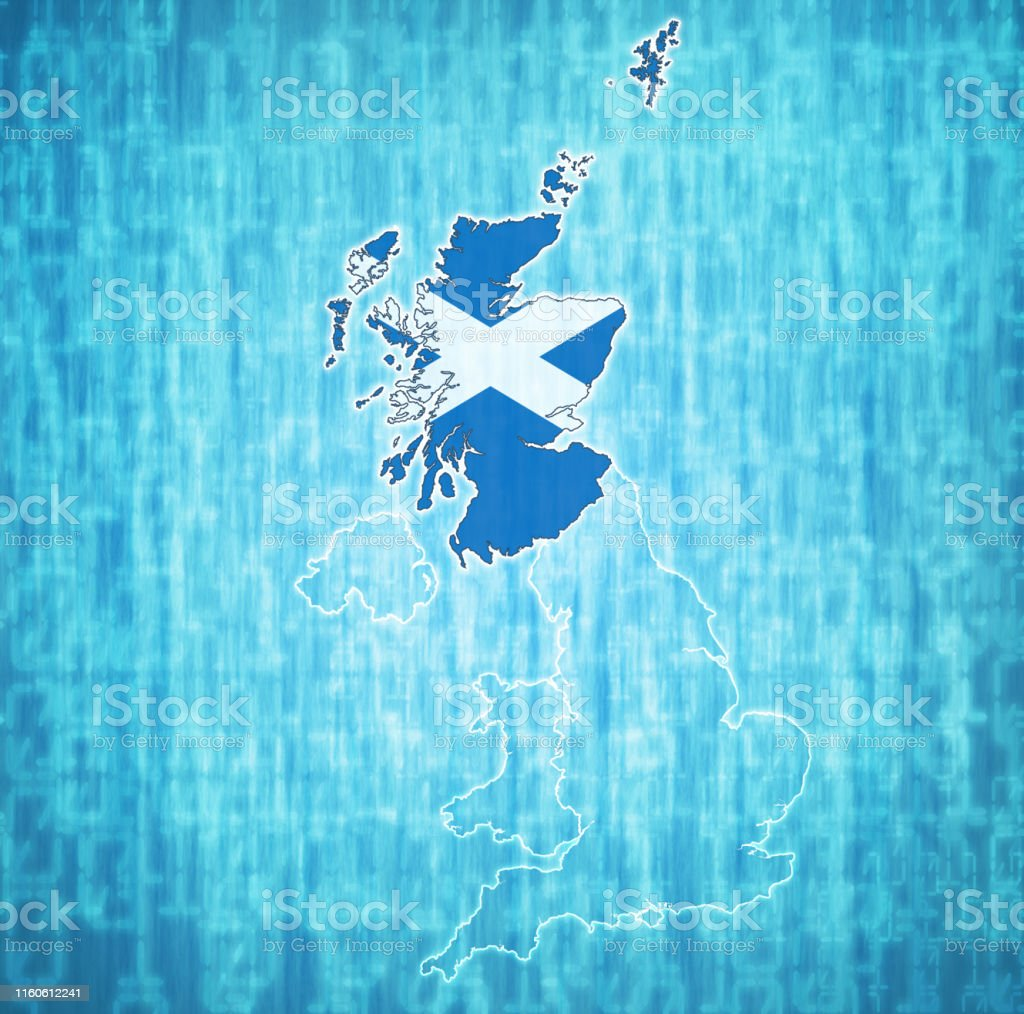 Scotland Flag On Map Of United Kingdom Stock Illustration ... on sudan on map, belfast on map, sicily on map, rhine river on map, flanders on map, england on map, wales on map, europe on map, netherlands on map, isle of man on map, glasgow on map, balkans on map, switzerland on map, denmark on map, sardinia on map, edinburgh on map, scandinavia on map, slovenia on map, brussels on map, tibet on map,