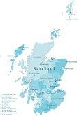 Scotland Vector Map Regions Isolated