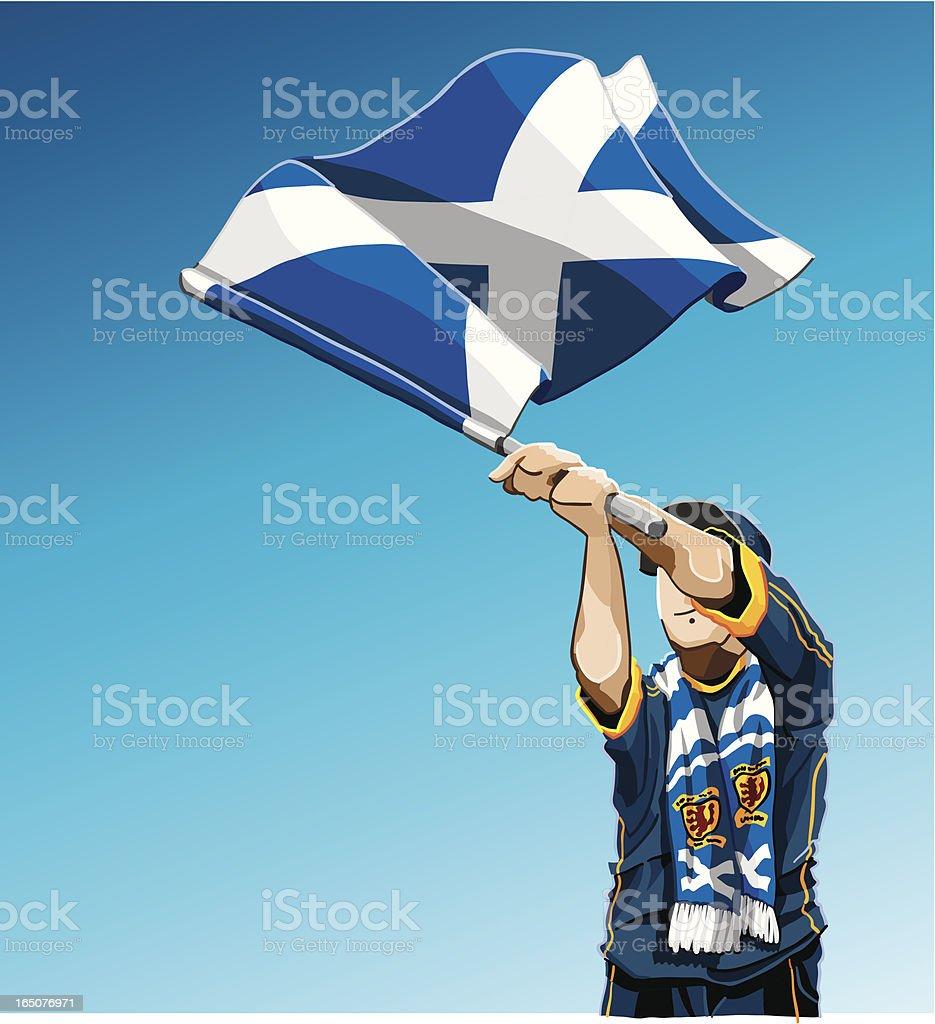 Scotland Waving Flag Soccer Fan royalty-free stock vector art