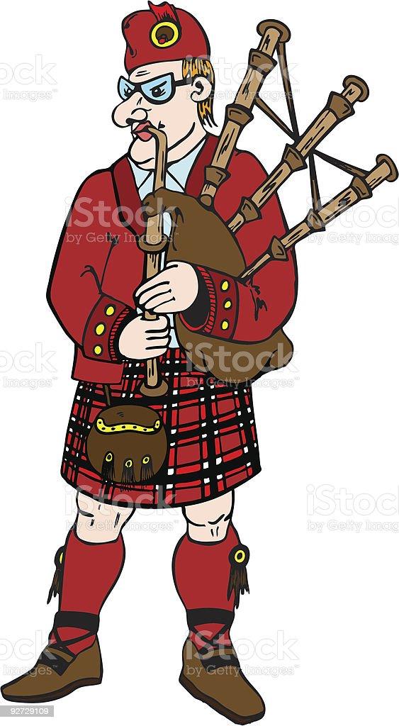 Scotsman vector art illustration