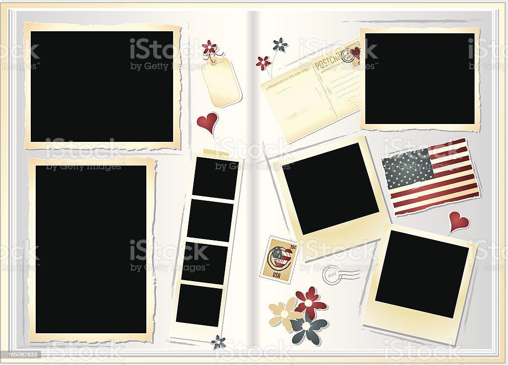 Scrapbook royalty-free stock vector art