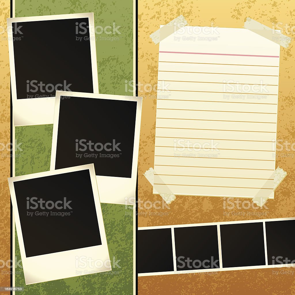 Scrapbook Template royalty-free scrapbook template stock vector art & more images of abstract