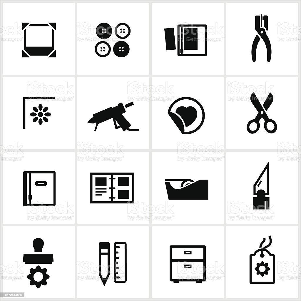 Scrapbooking Icons vector art illustration