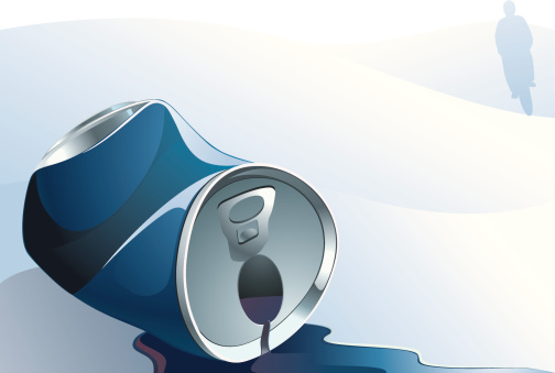 Scraped Beer Tin Stock Illustration - Download Image Now