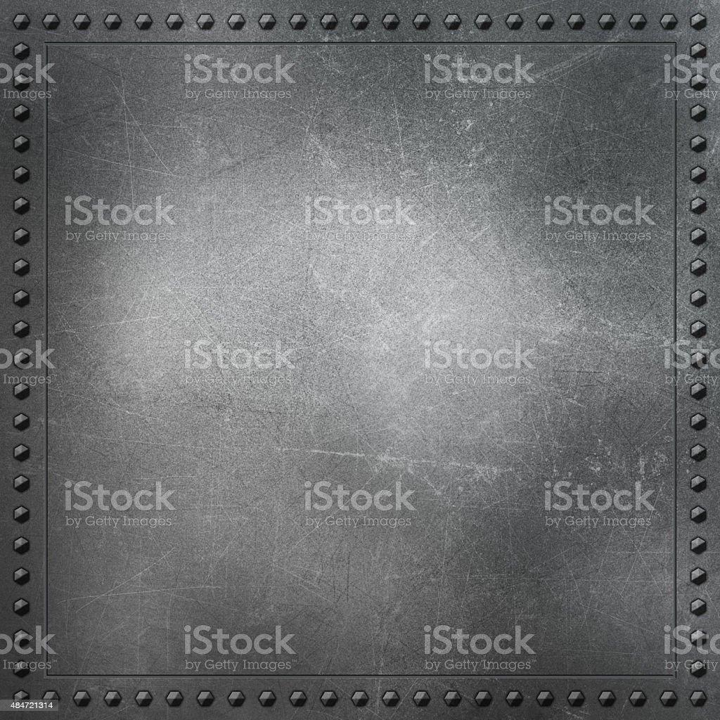 Scratched metal background vector art illustration