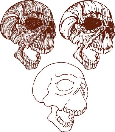 Screaming Skulls Stock Illustration - Download Image Now
