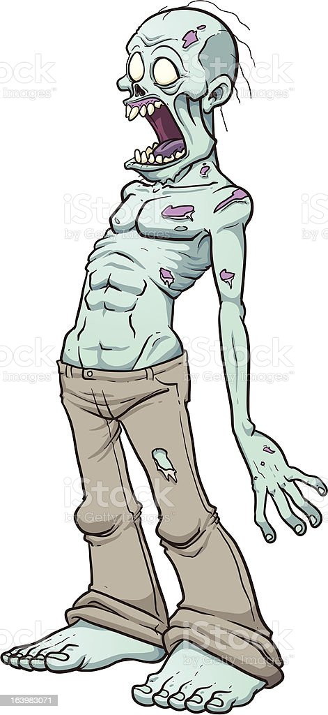 Screaming zombie royalty-free stock vector art