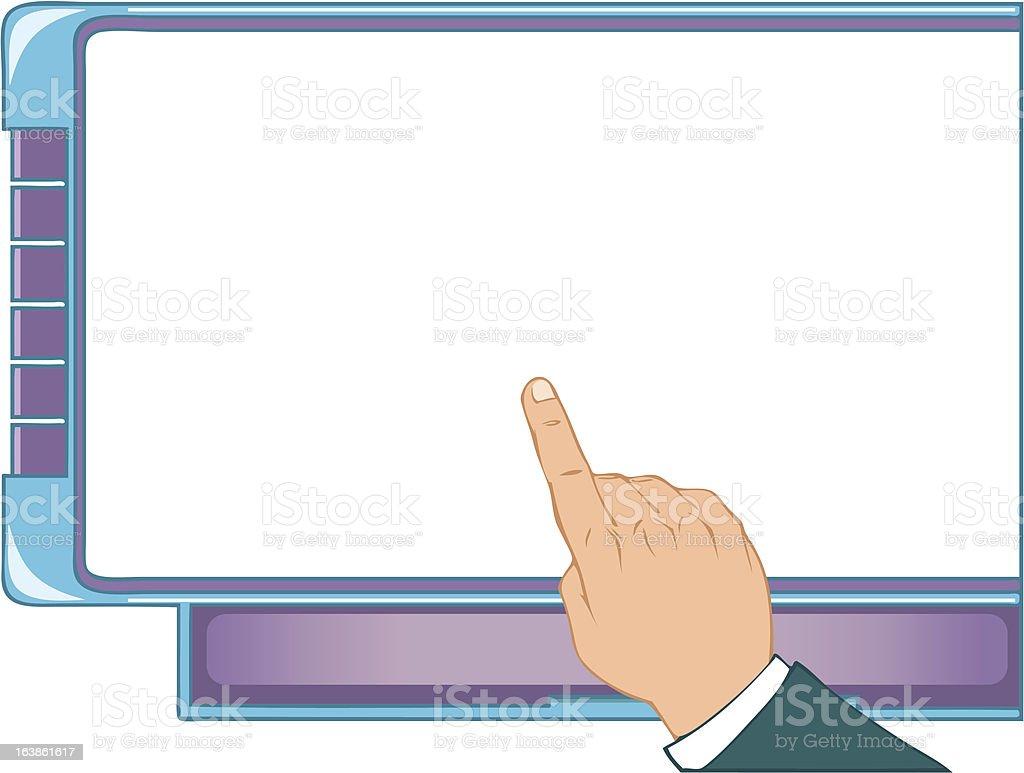 Screen royalty-free stock vector art