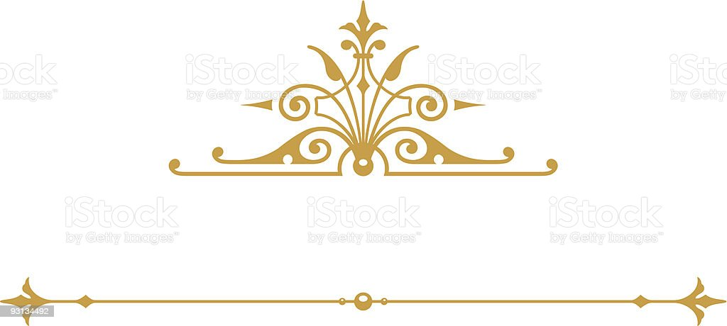 Scroll 2-81204 (vector) royalty-free scroll 281204 stock vector art & more images of art deco